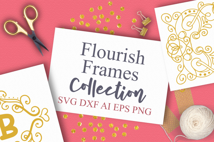 15 Flourish Frames Collection