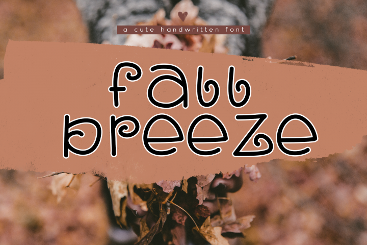 Fall Breeze - A Fun Handwritten Font
