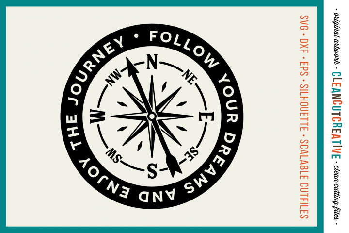 Follow Your Dreams and Enjoy the Journey - SVG DXF EPS PNG - Cricut & Silhouette - clean cutting files
