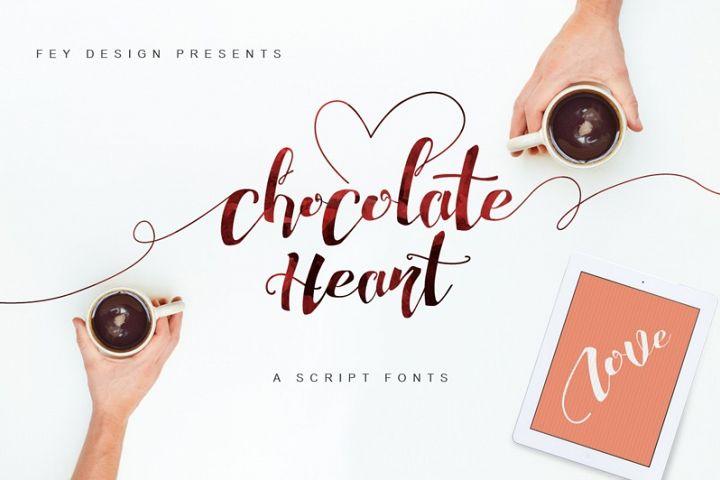 Chocolate Heart Script Font