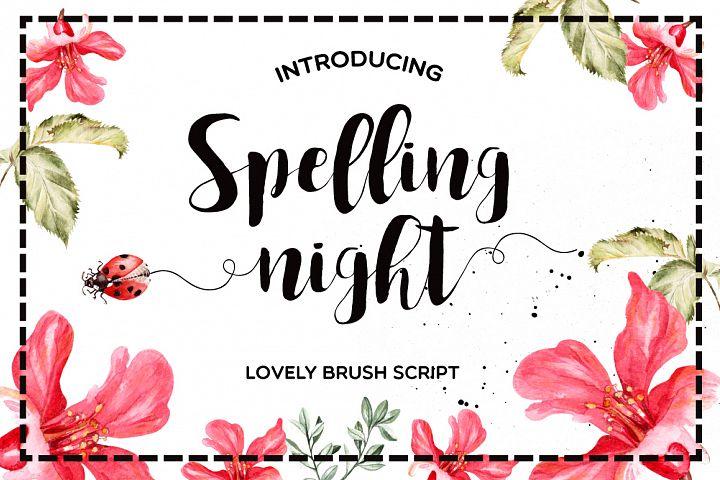 Spelling Night