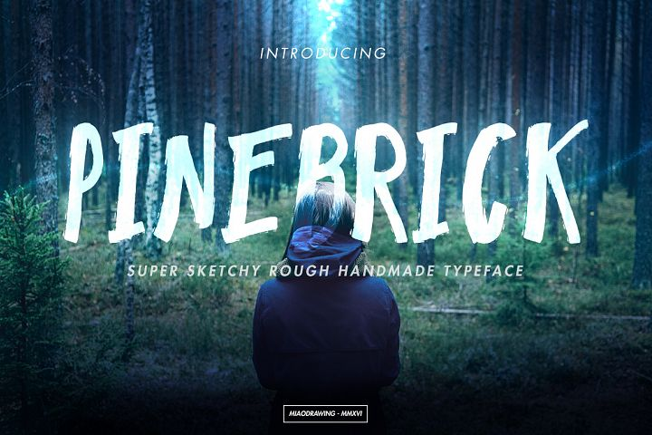 Pinebrick Typeface - Free Font of The Week