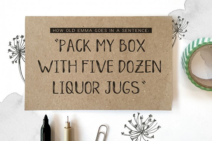 Old Emma - Free Font of The Week Design 1