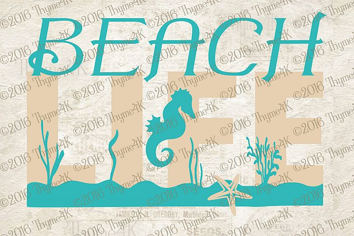 Beach Life design file.