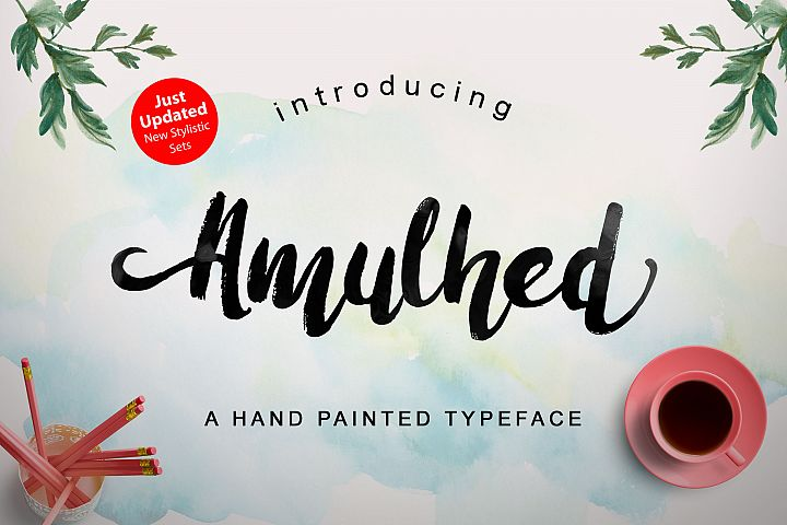 Amulhed Brush - Free Font of The Week