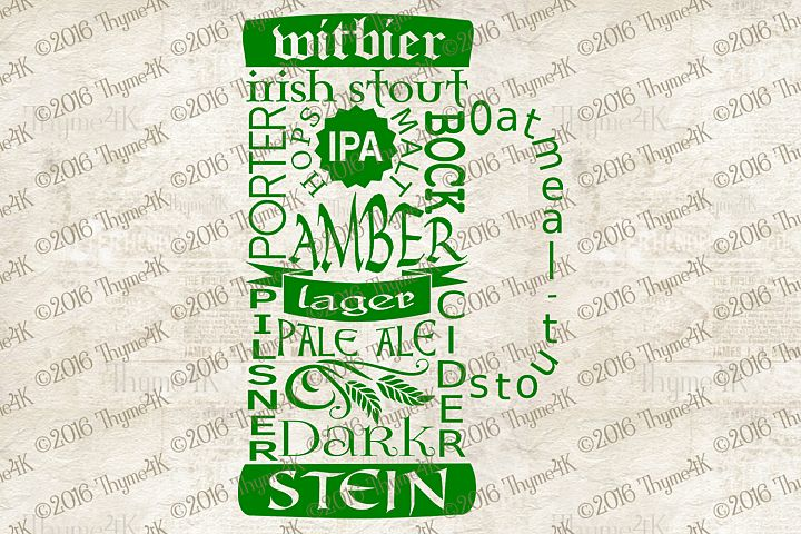 Beer Words digital design