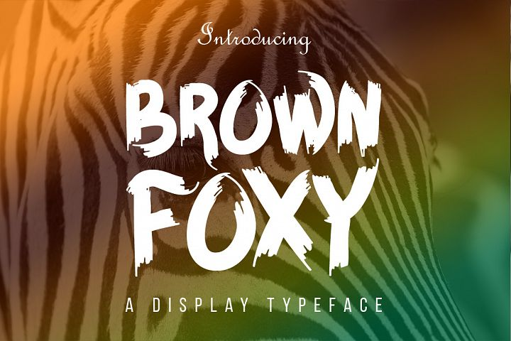 BROWN FOXY Typeface - Free Font of The Week