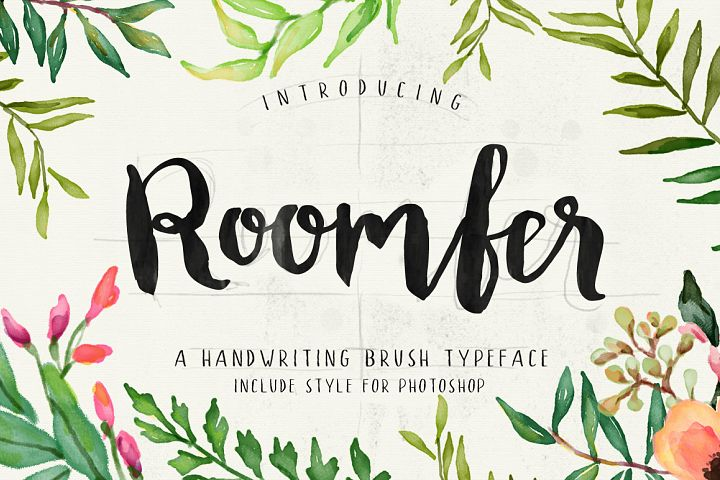 Roomfer font + Style Photoshop