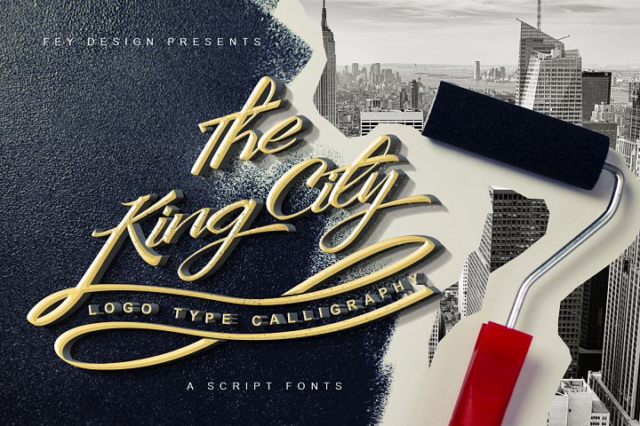 King City - Logo Type Calligraphy