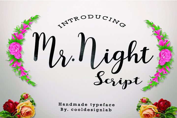 Mr.Night script - Free Font of The Week