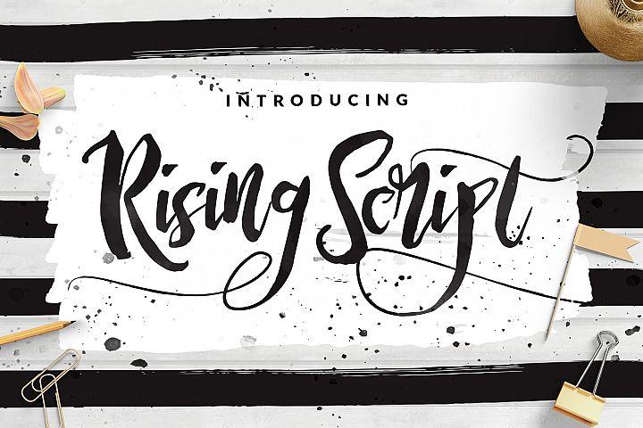 Rising Brush Script