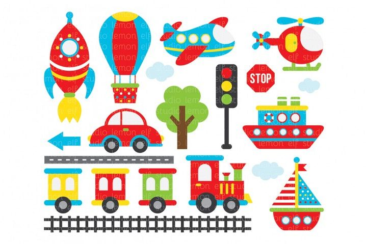 Transportation-Digital Clipart (LES.CL01A)