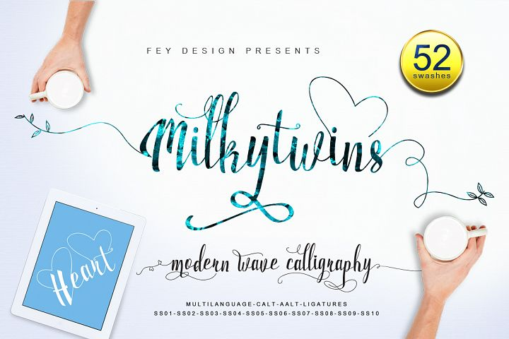 Milkytwins Modern Wave Calligraphy - Free Font of The Week Font
