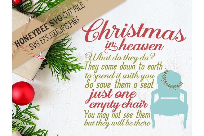 Christmas in Heaven Chair svg