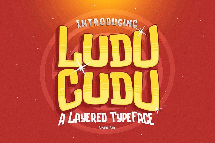 Luducudu Layered Typeface