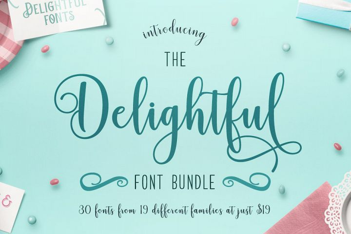 The Delightful Font Bundle
