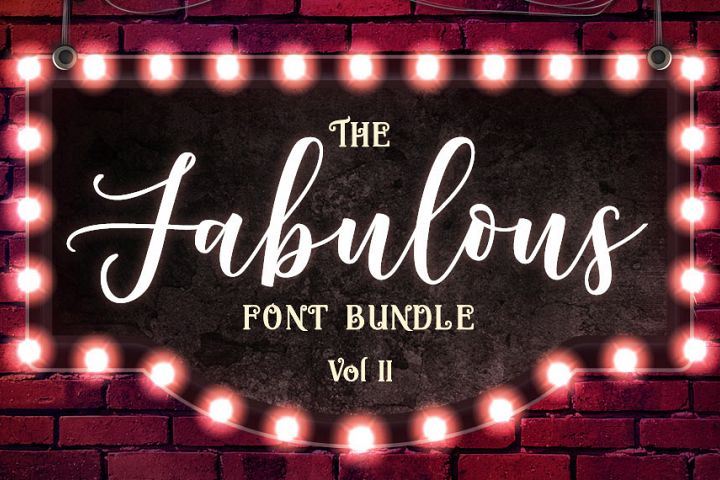 The Fabulous Font Bundle Volume II