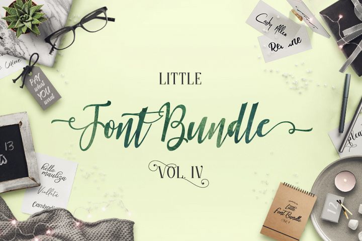 The Little Font Bundle Vol IV