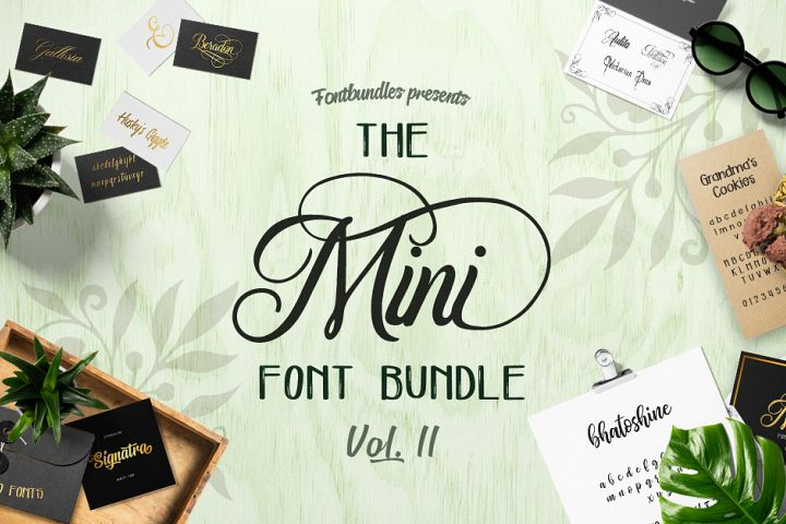 The Mini Font Bundle Volume II
