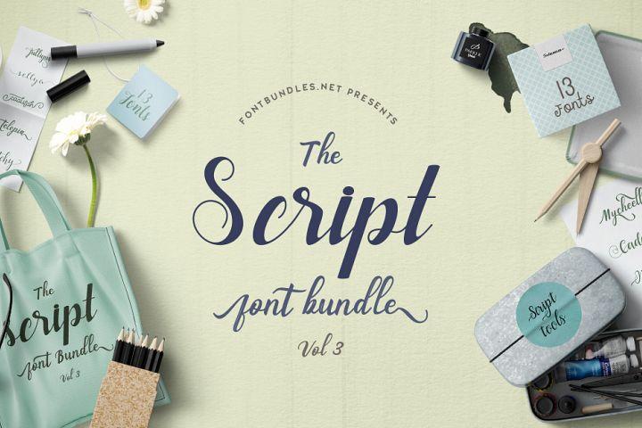 Script Font Bundle Vol III