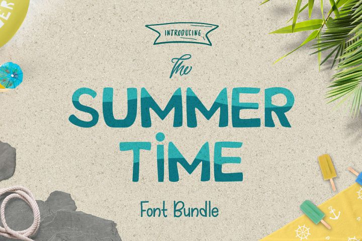 The Summer Time Font Bundle