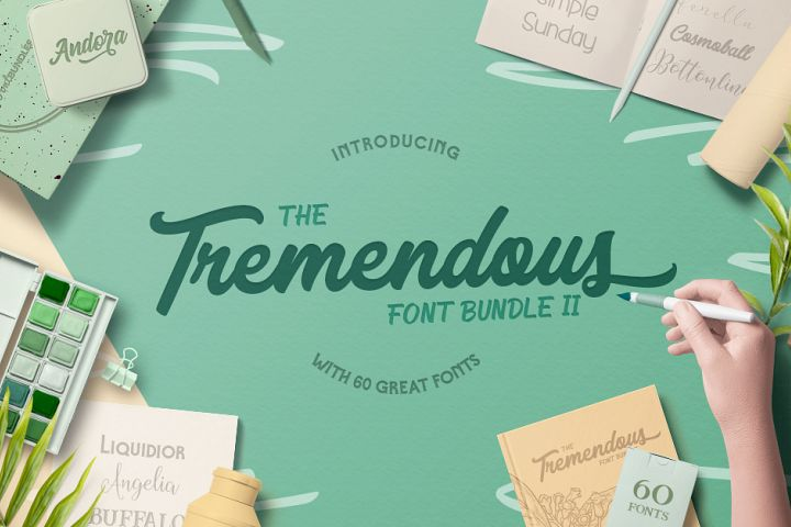 The Tremendous Font Bundle Volume II