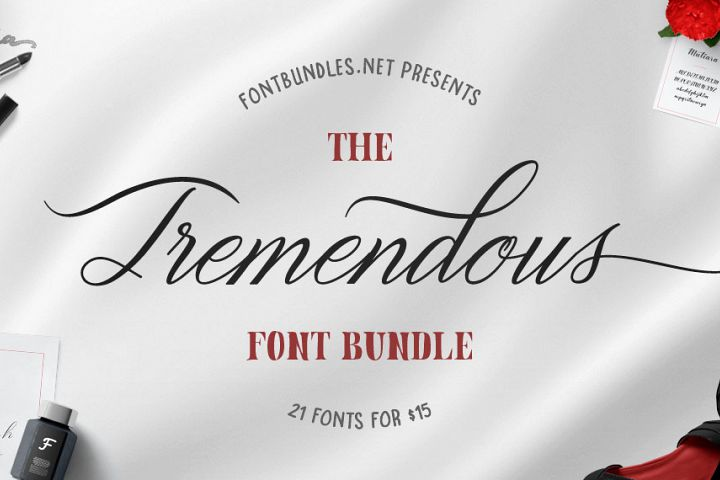 The Tremendous Font Bundle