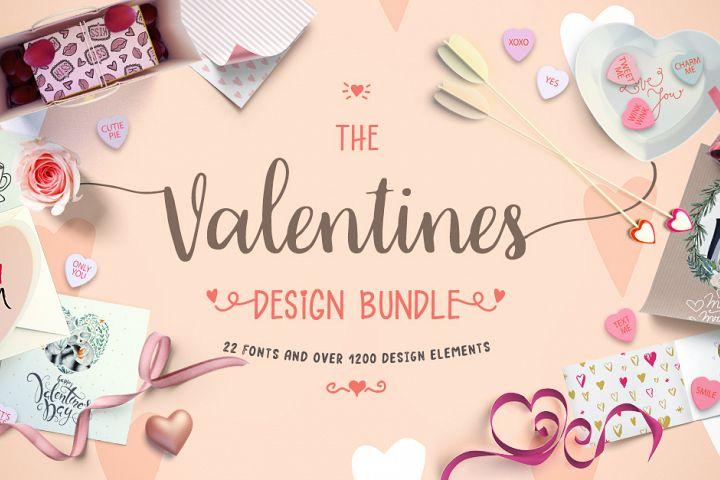 The Valentines Design Bundle