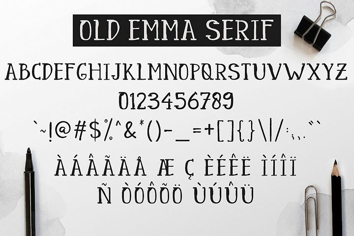 Old Emma - Free Font of The Week Design 6