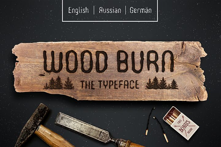 WOODBURN FONT - Free Font of The Week