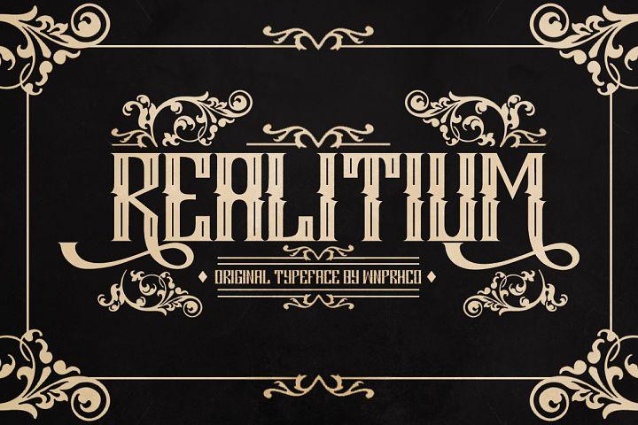 Realitium Font