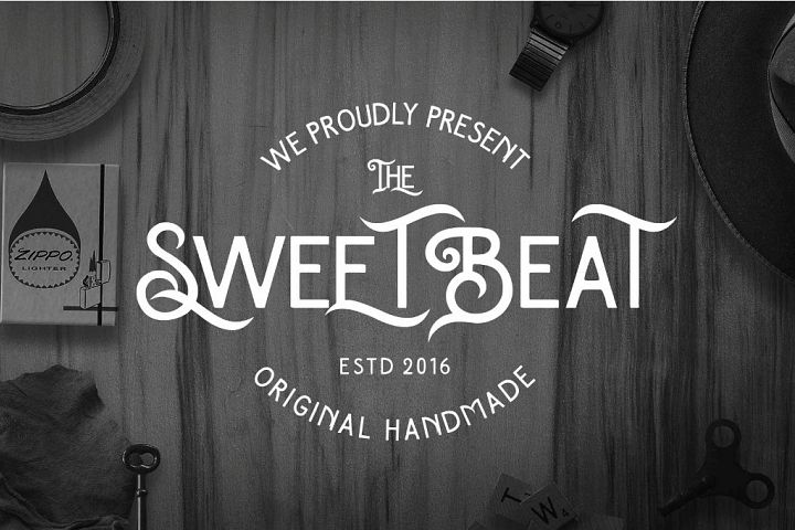 The SweetBeat Typeface