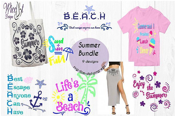 Beach Bundle, Holiday svg, beach quote svg, word art svg, Quote bundle svg