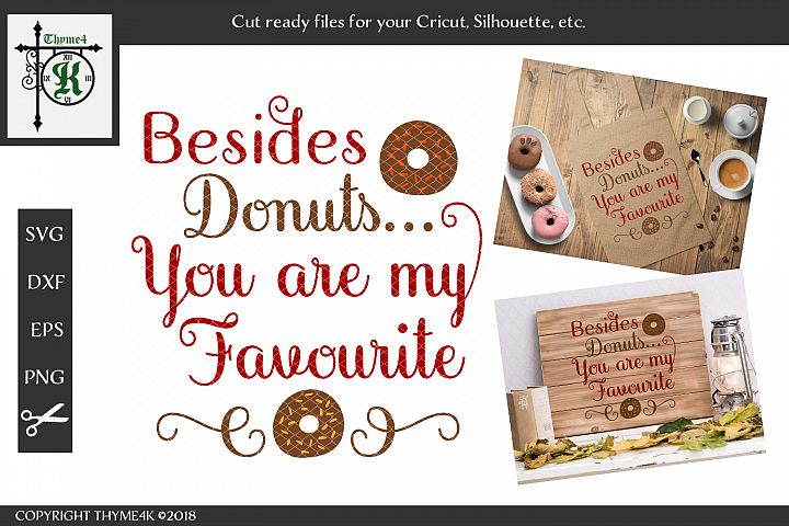Besides Donuts You are my Favourite Digital Design