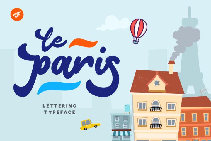 Le Paris Lettering Typeface