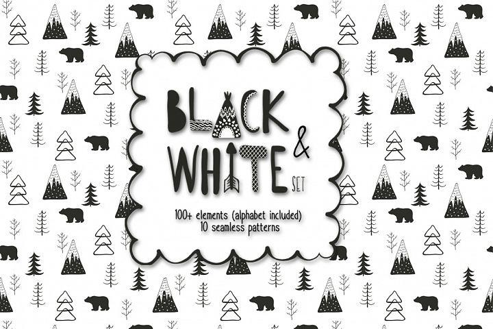 Black and white set