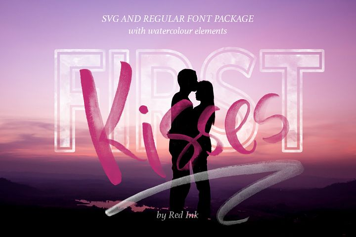 First Kisses. SVG Font Collection.