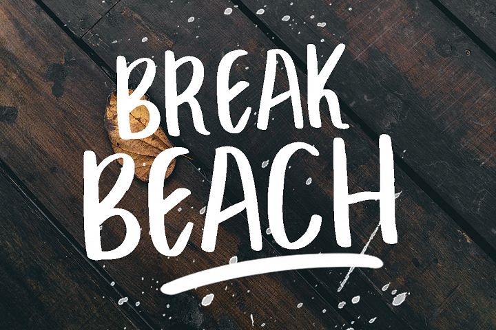 BREAK BEACH - BRUSH FONT