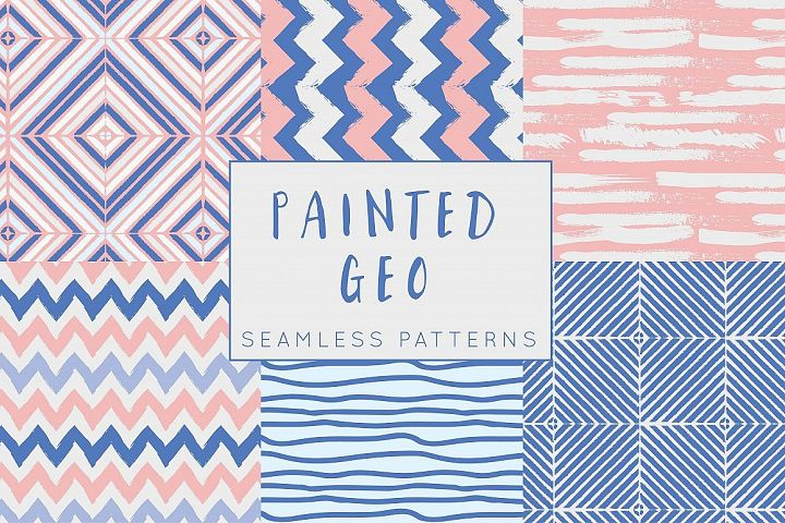 Painted Geo Seamless Patterns
