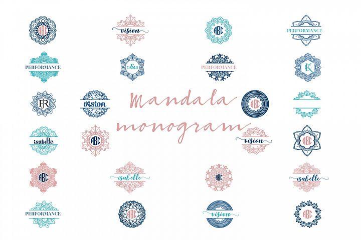 Mandala Monogram Logo Bundle