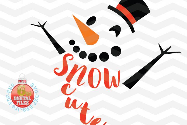 Snowman Svg - Snow Cute SVG - Christmas SVG - Snow SVG - Xmas svg - Cutting File - Cute svg - Christmas SVG - Svg - Dxf- Eps - Png -Jpg - Pdf