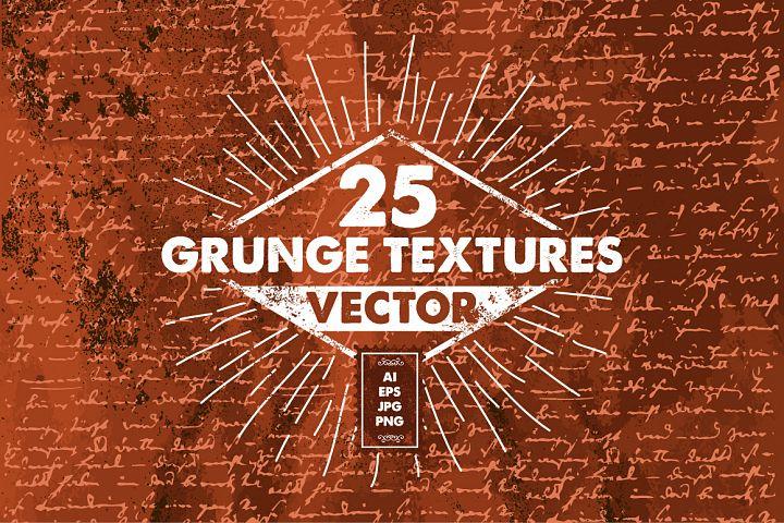 25 Vector Grunge Textures PACK