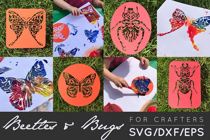Bugs & Beetles Cut Files - SVG / DXF For Crafters