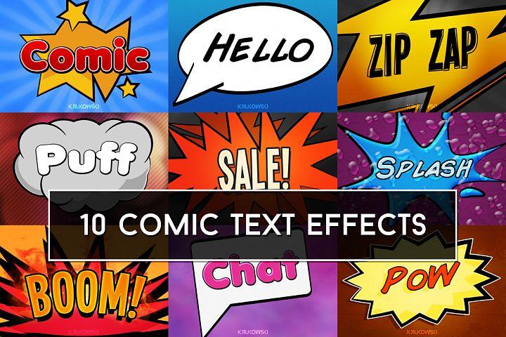 Comic Text Effects Mockup