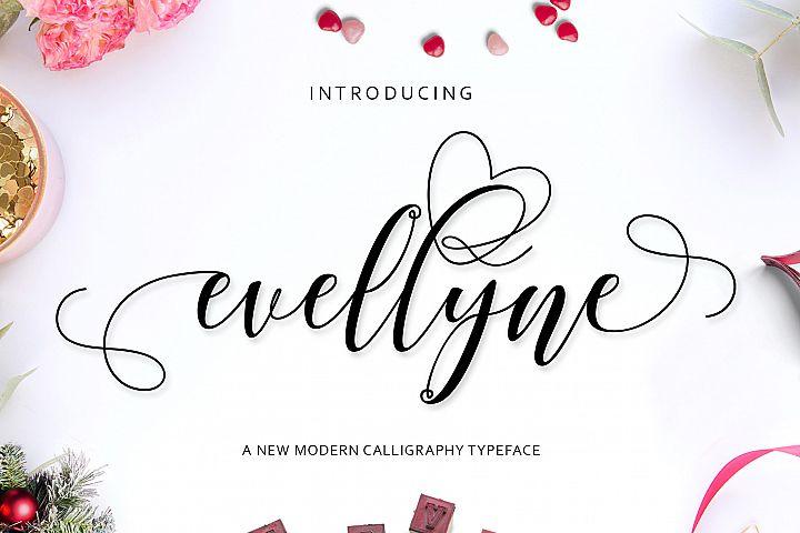 Evellyne Script