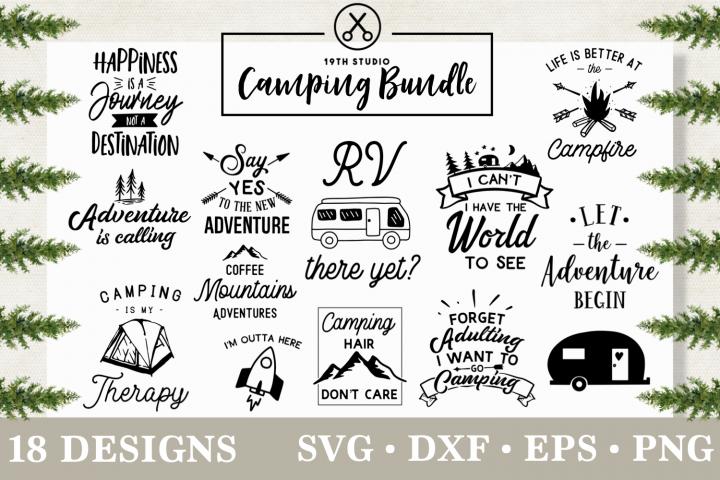 Camping SVG bundle - Adventure SVG