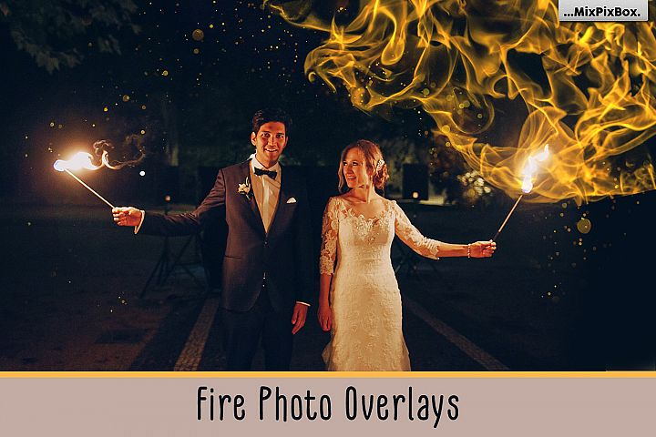 Fire Photo Overlays