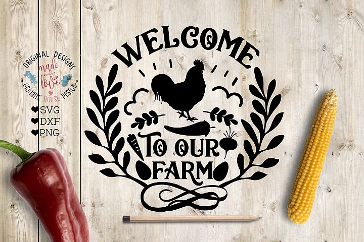 Welcome to Our Farm in SVG, DXF, PNG