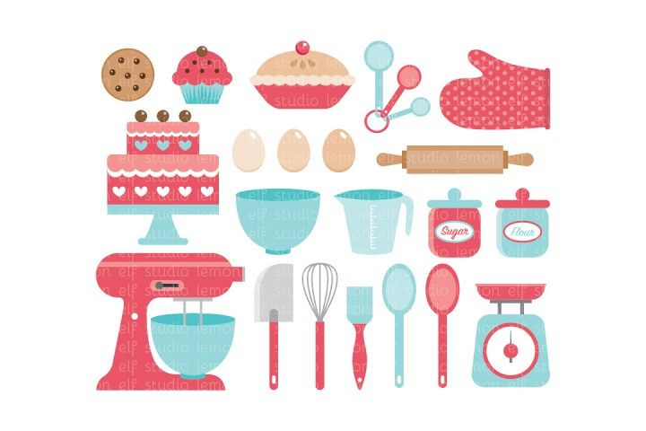 Baking Utensils-Digital Clipart (LES.CL11)