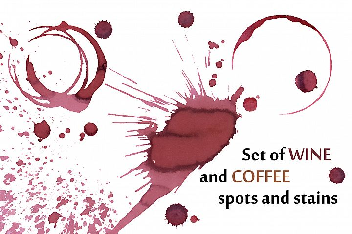 Wine and coffee stains